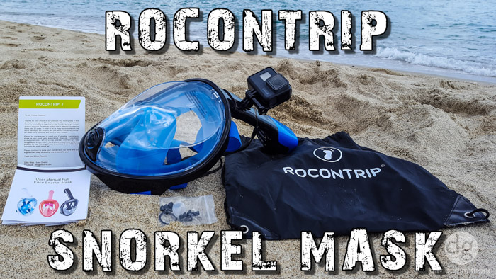 ROCONTRIP Full Face Snorkeling Mask with Gopro Mount • UNBOXING