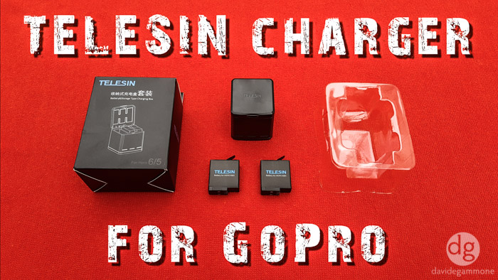 TELESIN Triple Charger and Batteries for GoPro: unboxing and test